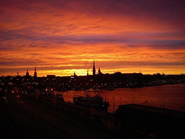 Il cielo spettacolare di Stoccolma #insvezia #stoccolma #stockholm