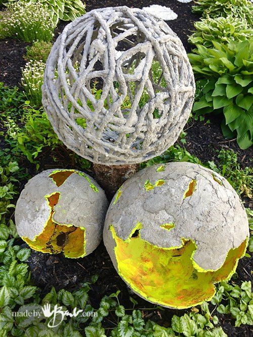 Delicieux Concrete Garden Orbs DIY Z