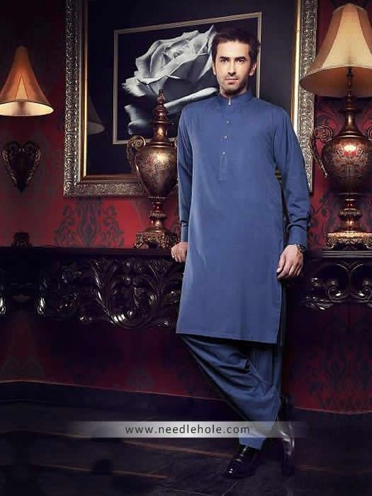 Plain kurta shalwar suit for men by junaid jamshed uk