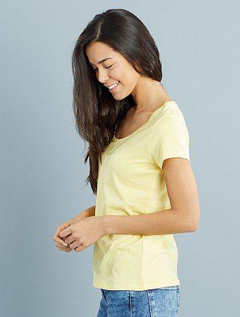Tee-shirt à manches courtes                                                                                                         $selectedProduit.getColorisLabel() Femme  - Kiabi