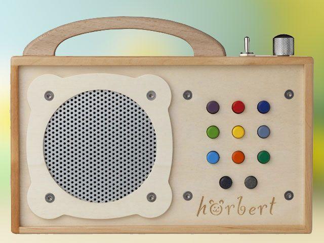 Wooden children's mp3 player.