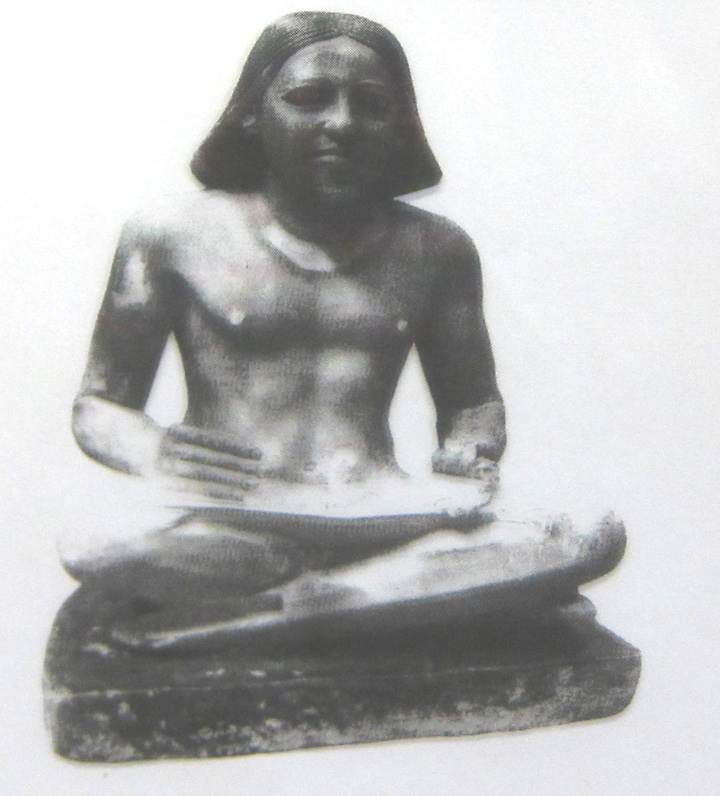 seated scribe Instead of lumping him in with the other admittedly remarkable egyptian artifacts i viewed, i decided to give the seated scribe a post all his own he deserves it.