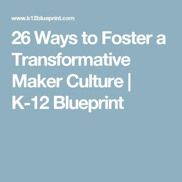 26 Ways to Foster a Transformative Maker Culture | K-12 Blueprint
