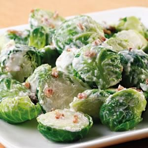Alkaline Diet Recipe #128: 'Creamy' Brussels Sprouts - Brussels sprouts and other brassicas (such as broccoli) are a source of indole-3-carbinol which boosts DNA repair in cells and appears to block the growth of cancer cells.  This 'creamy' recipe is alkaline, energising and deeeee-licious.  Serves 1.