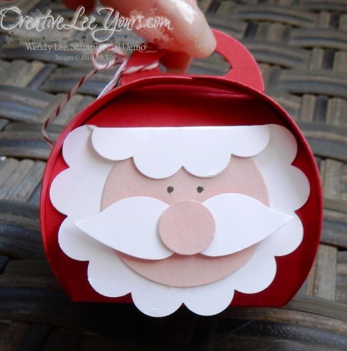 curvy keepsake jolly santa by wendy lee, #creativeleeyours, Stampin' Up!
