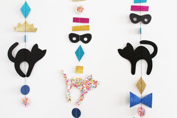Krymmel, glimmer og festlige Fastelavns ophæng – DIY – Skabelon | Den Kreative Sky