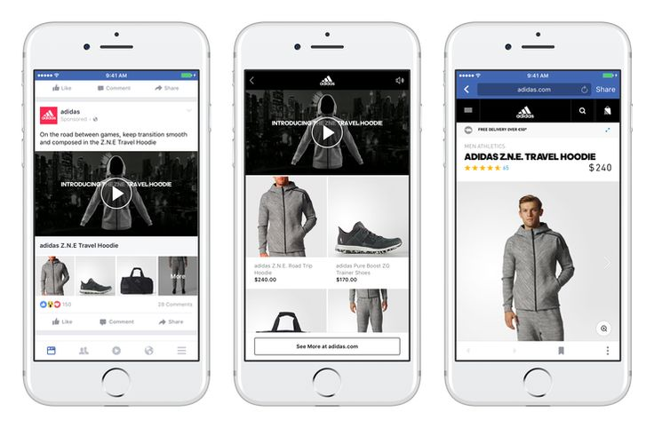 Facebook Collectionは4種類のアイテムを表示―ショーウィンドウ的モバイル広告が登場 | TechCrunch Japan