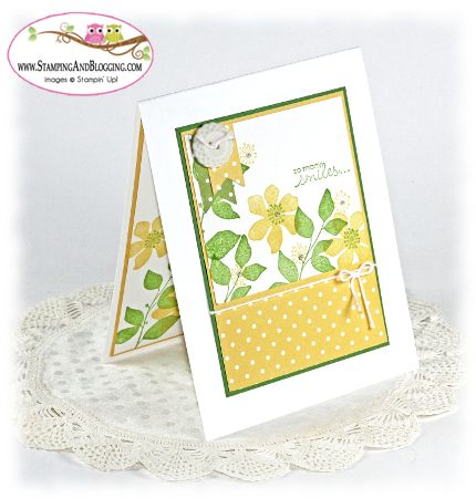Summer Silhouette card by Sandi @ www.stampingwithsandi.com for stamping and blogging