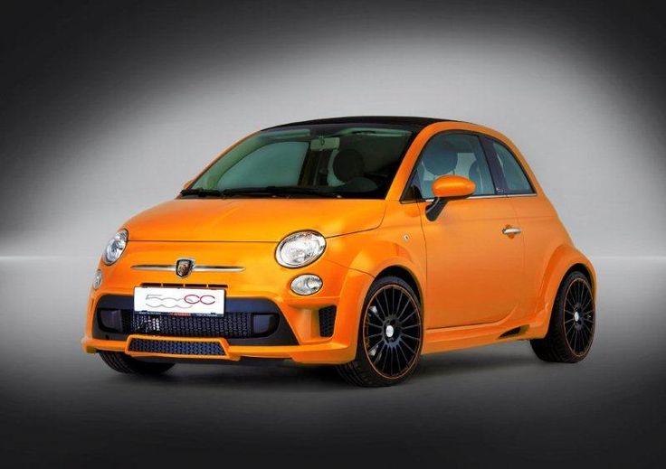 Fiat 500 front orange