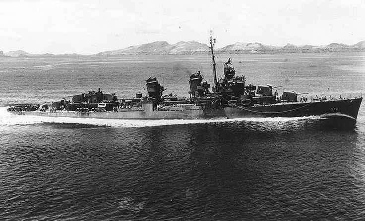 USS Charles Ausburne (DD-570) Fletcher class destroyer.