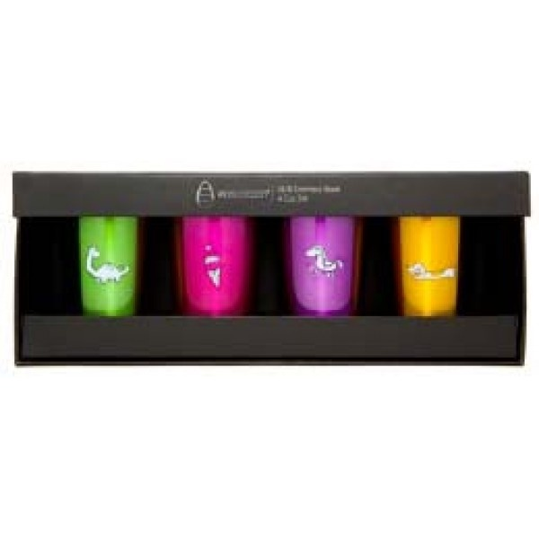 Ecococoon Stainless Cups - Favourites 4pk