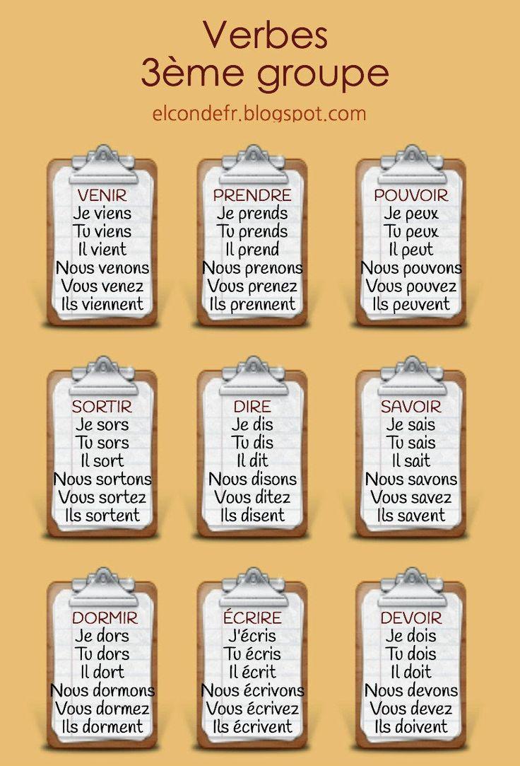 El Conde. fr: Quelques verbes du 3ème groupe à réviser