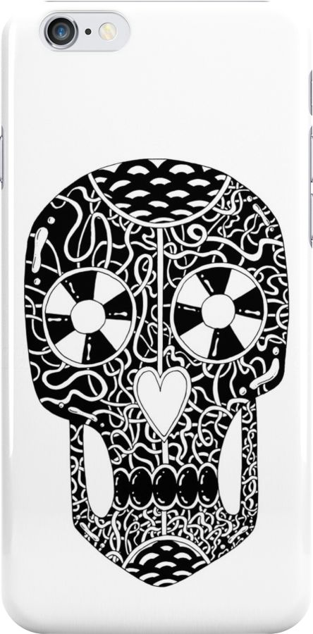 Scary cool skull illustration by Adrian Serghie