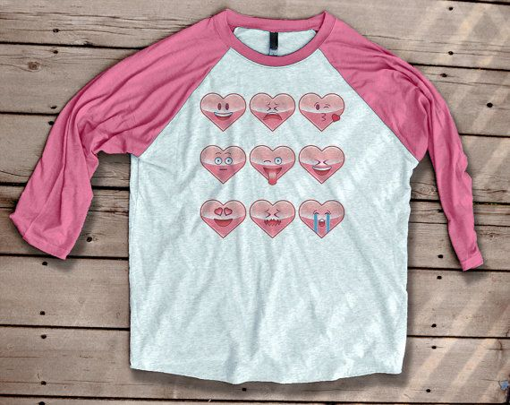 Valentine Shirts  Heart Emoji  Soft Tshirt   by odysseyroc on Etsy