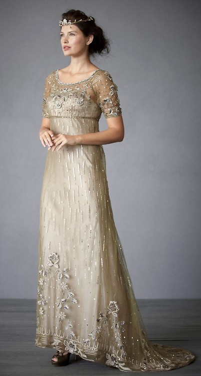 Vintage style wedding gown 1900 39 s 1910 39 s wedding theme for Downton abbey style wedding dress