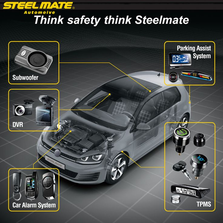 Steelmate 2017 ET-710AE TPMS with 4 External Wireless Sensor Car Display LCD Tire Pressure Monitoring System Monitor steel mate