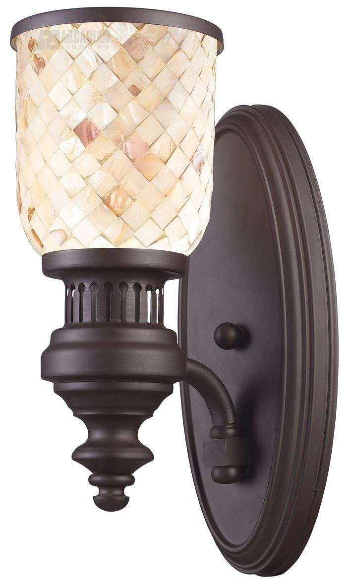 21 best sconces images on pinterest sconces chandeliers and buy the elk lighting oiled bronze direct shop for the elk lighting oiled bronze chadwick single light wall sconce in oiled bronze finish with cappa shell amipublicfo Image collections