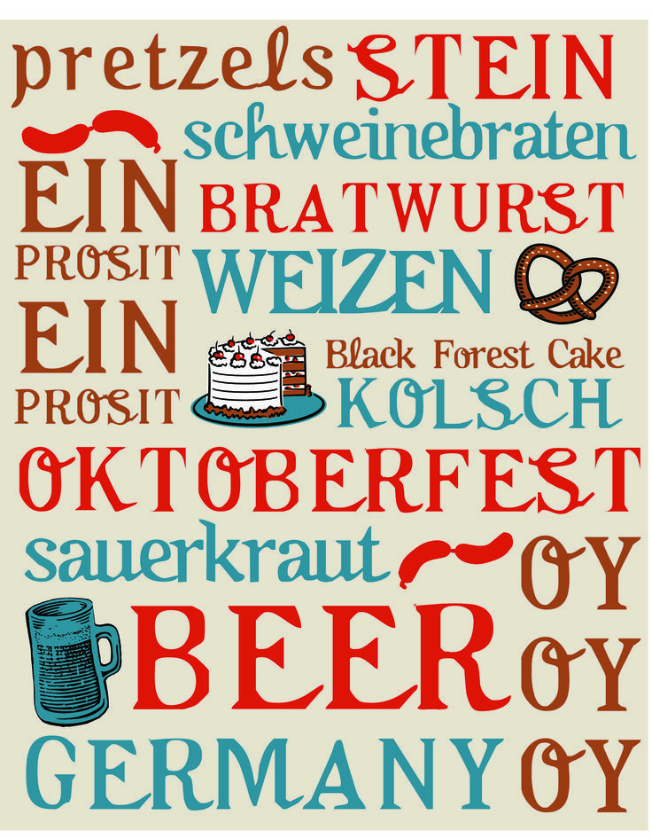 october is for oktoberfest - free printable for october home decor                                                                                                                                                                                 More