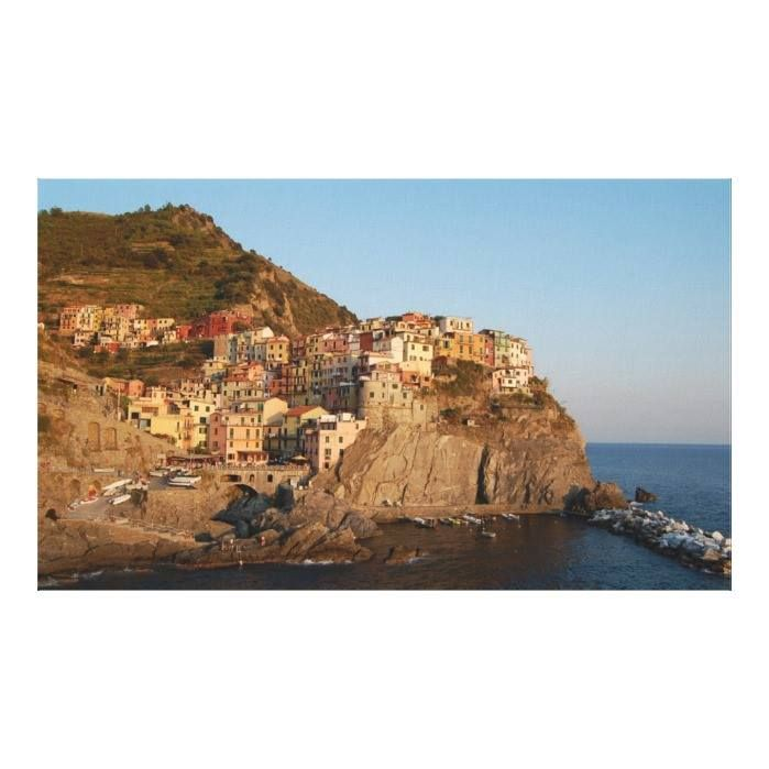 Customizable #Cinque#Terre #Color#Image #Day #Harbor #Hillside #Horizontal #Italy #Landscape #Manarola #Mediterranean#Sea #Outdoors #People#In#The#Background #Photography #Picturesque #Readers#Collection #Rock #Sunset #Tourism #Travel#Destination #Vegetation #Village #Water The scenic hillside village of Manarola Canvas Print available WorldWide on http://bit.ly/2fXxP1m