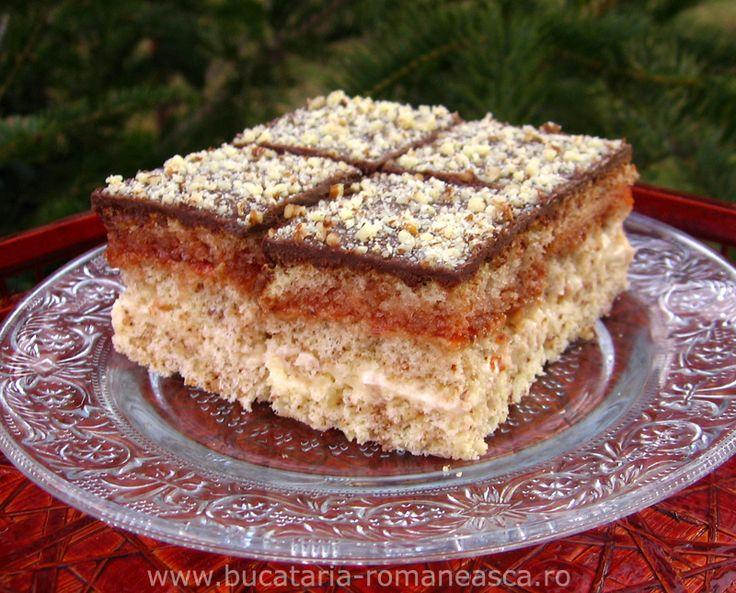 Prajitura cu nuca si marmelada   Bucataria Romaneasca