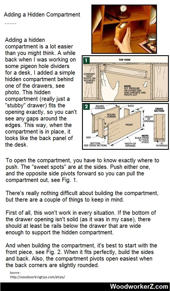 21 best diy furniture images on pinterest for Diy hidden compartment