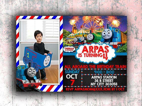 Thomas The Train Birthday Invitations Invitation Thoma