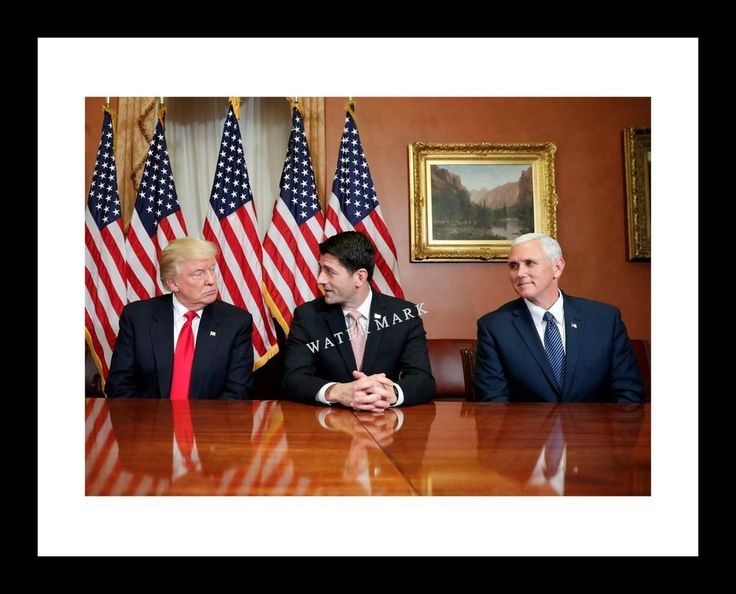 President Donald Trump 11x14 Photo Print with Paul Ryan and Mike Pence GOP USA | Collectibles, Historical Memorabilia, Political | eBay!