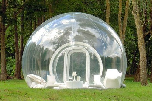 this is just the coolest thing - inflatable igloo - just imagine sitting in this on a rainy day :) $12000