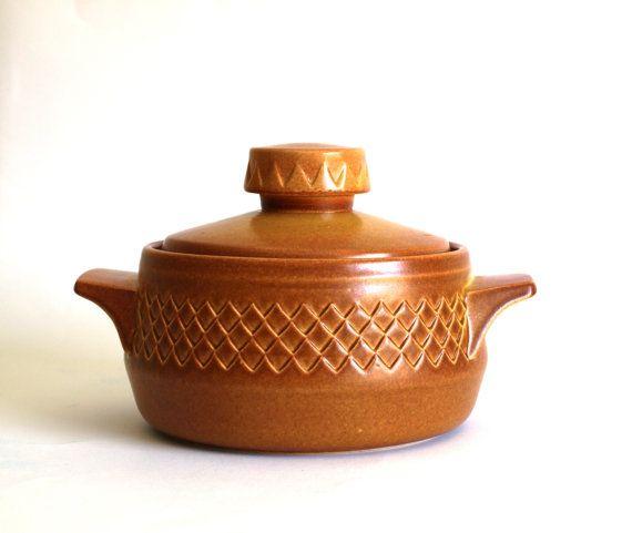 Diana Pottery Nefertiti Casserole Dish  Honey by FunkyKoala