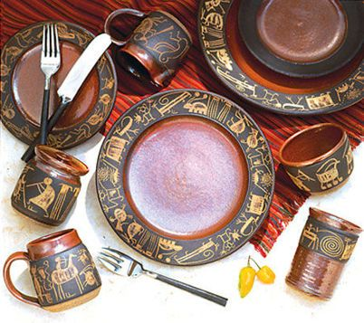southwestern dinnerware | The Chile Shop Santa Fe - Petroglyph Pottery