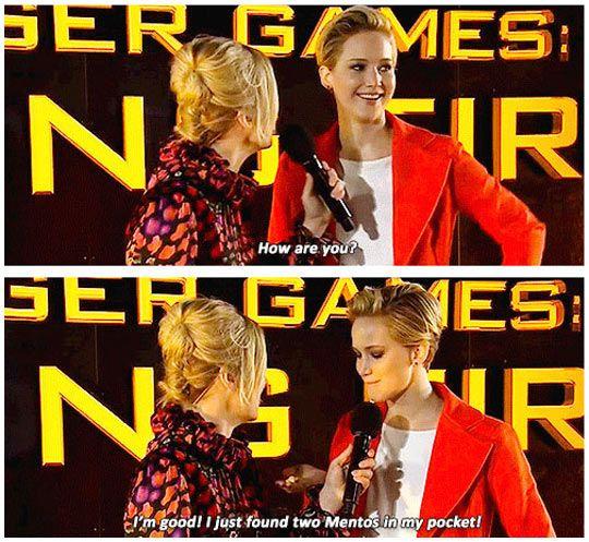 Jennifer Lawrence is the best :)