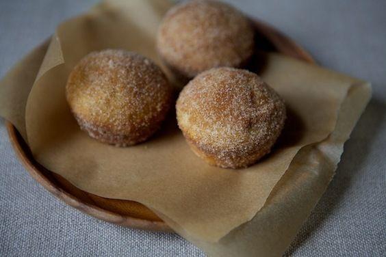 Cinnamon Sugar Breakfast Puffs by fiveandspice via food52: Like the best doughnut holes you've ever eaten, but baked, not fried. #Breakfast #Cinnamon_Puffs #food52 #fiveandspice