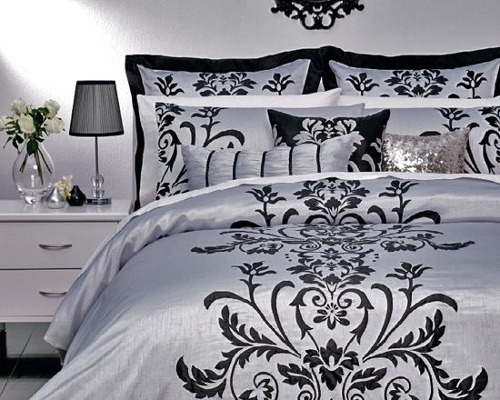 Anastasia Silver Bed Linen Set
