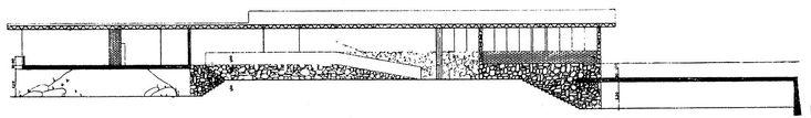 Imagem 21 de 23 da galeria de Clássicos da Arquitetura: Casa Lota de Macedo Soares / Sérgio Bernardes. Corte Longitudinal