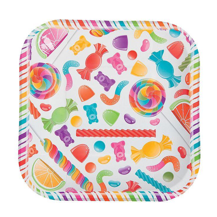 Lollipop Lane Dessert Plates - OrientalTrading.com