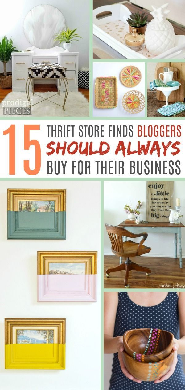 These Are The Best Thrift Store Items That Bloggers Should Always Buy Secondhand For Their Projects Thrift Upcycle Decor Thrift Store Crafts Thrift Store Diy