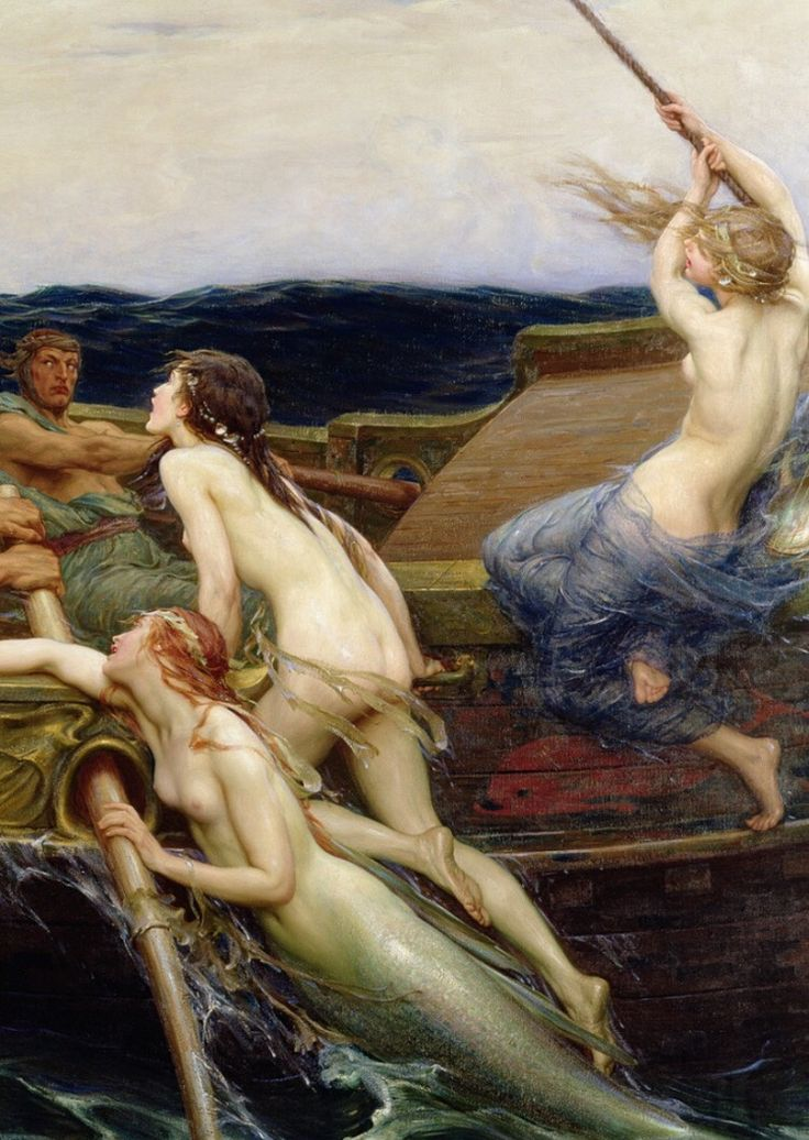 Ulysses and the sirens by Herbert James Draper (detail)