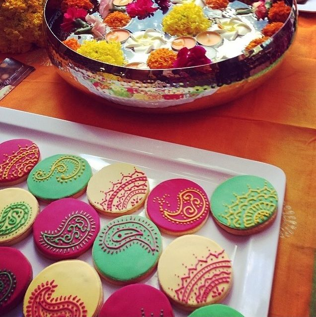 Henna Mendhi Iced Cookies by Wedding Cakes of Melbourne