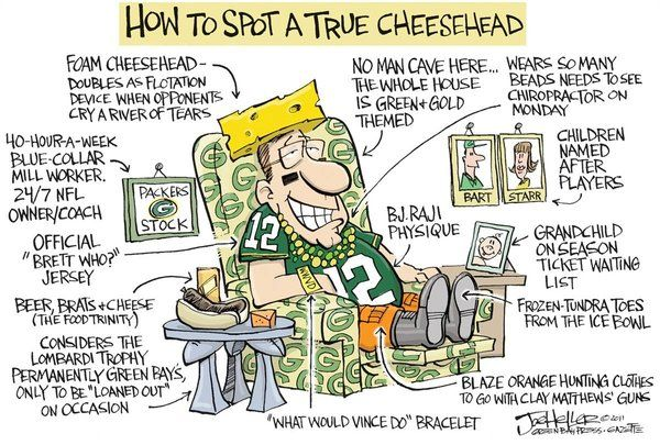Funny Green Bay Packer   Joe Heller / Green Bay Press-Gazette, PoliticalCartoons.com