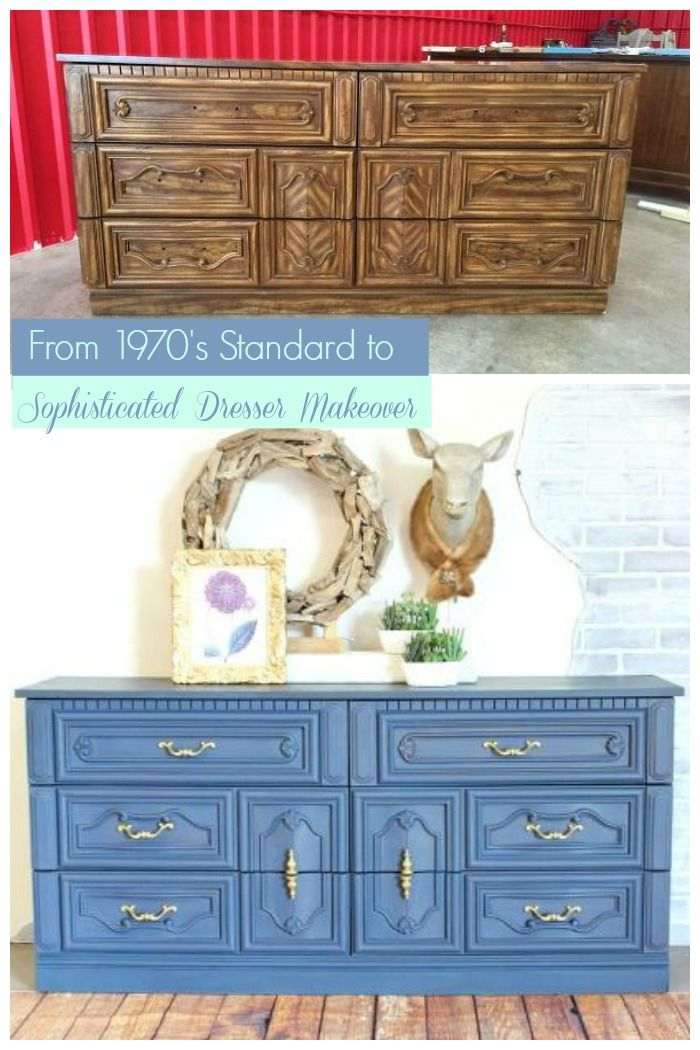 This 1970's Mediterranean dresser with lots of details and curves was refinished and is now a piece oozing with sophistication and style.