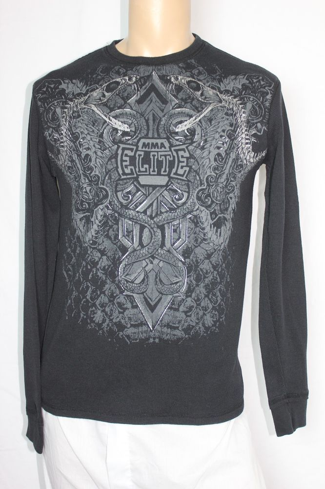 8c6d5c00 MMA Elite Cross Snakes Black Thermal Long Sleeve Shirt - Large #fashion # clothing #shoes #accessories #mensclothing #shirts (ebay link)