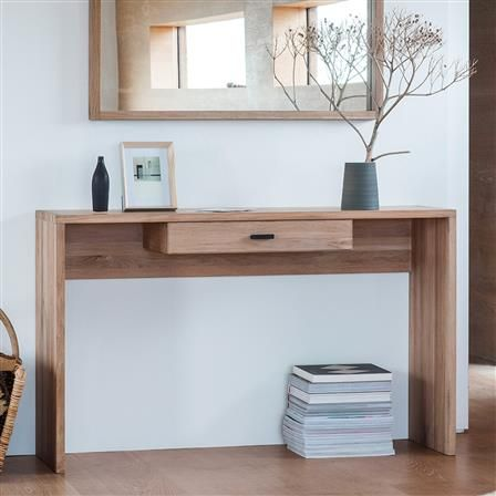 Kielder Console Table with Drawers, Natural | ACHICA