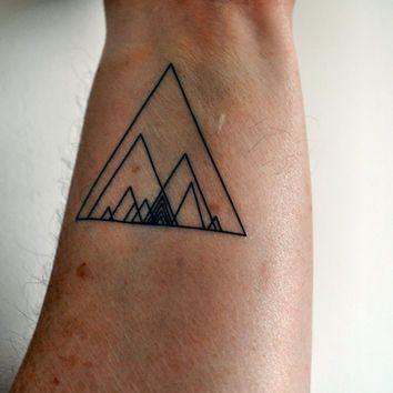 Geometric Triangle Temporary Tattoo, Hipster Temporary Tattoo, Indie Temporary Tattoo, Geometirc Art, Minimalist Temporary Tattoo, Gift Idea