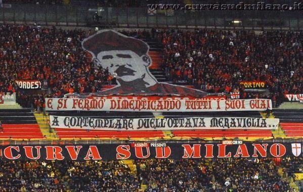 Curva Sud Milano always do AMAZING work! Congrats guys. #weareacmilan #Derby #IInterMilan #CurvaSud #forzaMilan