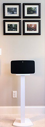 "Beautiful, sleek White SONOS PLAY 5 (2nd Generation) Speaker Stand. Handcrafted Wood. Unlike speakers designed for the previous generation of PLAY 5 and many ""universal"" speakers, these speakers are custom designed for SONOS PLAY 5 (2nd Generation) and built for function and... more details available at https://furniture.bestselleroutlets.com/game-recreation-room-furniture/tv-media-furniture/speaker-stands/product-review-for-beautiful-wood-speaker-stand-handcrafted-"