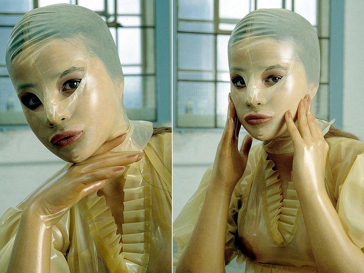 Black leather mask mistress of ceremonies - 3 9