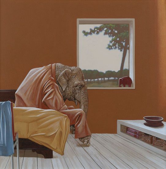 Aziatische olifant (Asian Elephant)  2003  by Jasper Oostland