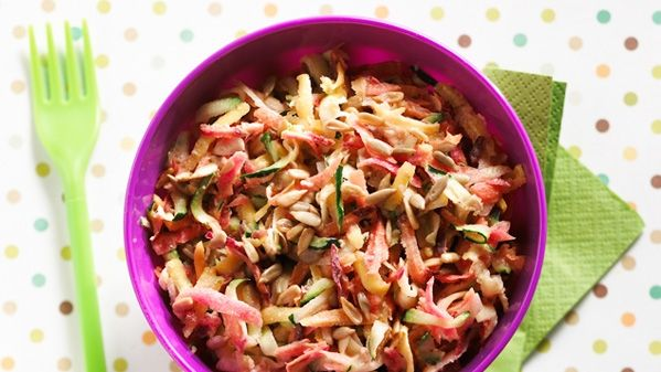 Carrot and Zucchini Salad Recipe with Maple Syrup