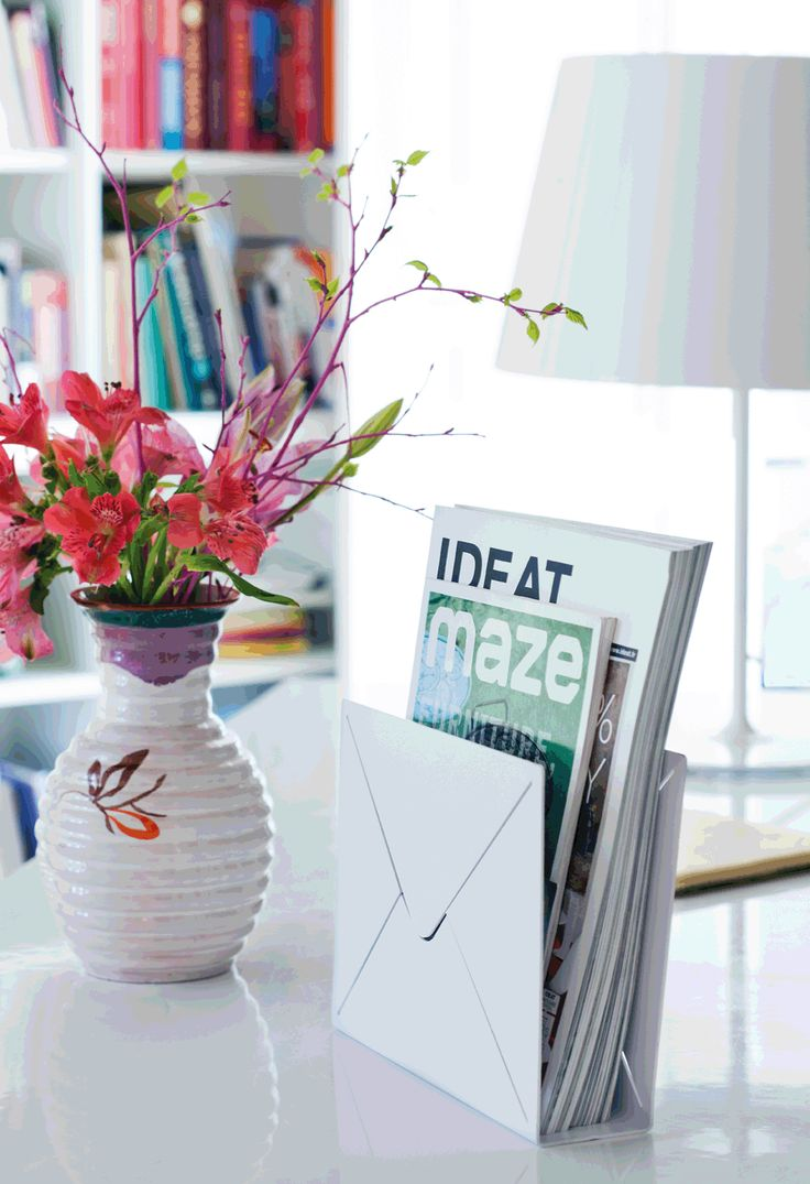 Desk Letter is a mail storage in metal to have on the table in the hall, for example, work room or kitchen. There you can make a practical and stylish way to keep track of your post. Combine with the other mail storage like Letter or Letter Shelf.   Material: Powder coated metal