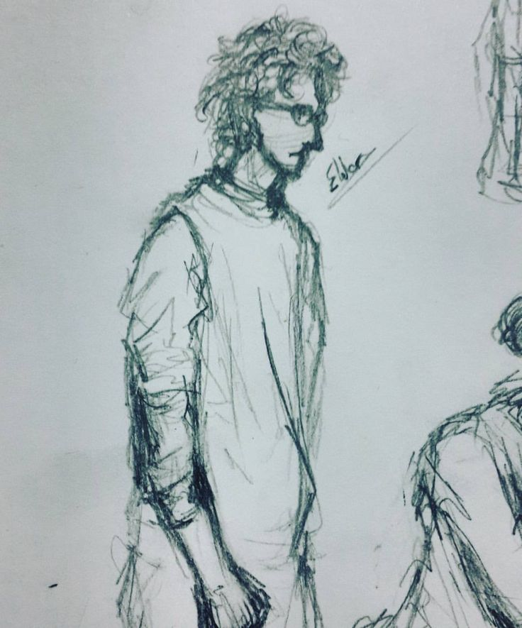 "Drawing friends ""Eldar"" ( ͡° ͜ʖ ͡°) #drawing #art #traditional #man #sketches #art🎨 #classmate #friends #notebook #eldar #curlyhair #school #boringschoolday #highschool #duringclass #doodle"
